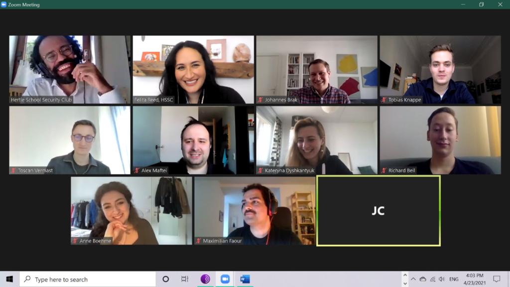 Screenshot of attendees